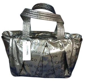 Chanel New With Box Tote in Silver