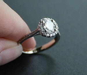 Oval Diamond Halo Set Engagement Ring