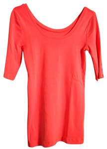 J.Crew Perfect Fit 3/4 Sleeves Pink Button T Shirt Vivid Pink