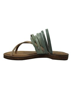 Gee WaWa Leather Festival Artisan Mint Sandals