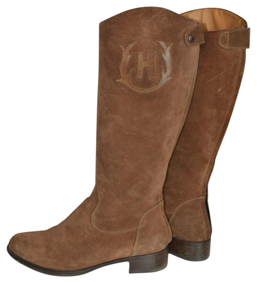 Women's Hunter Brown are Suede Riding Boots/Booties Orders are Brown welcome c1974c