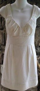 Nanette Lepore short dress white Sleeveless Cut-out Summer Spring on Tradesy