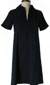 Diane von Furstenberg short dress Navy Shift Pleated Short Sleeves on Tradesy