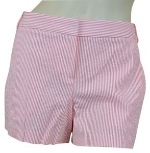 Theory Striped Mini/Short Shorts Orange/white