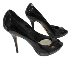 Dior Christian Stilettos Patent Leather Black Pumps