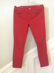 J.Crew 5-pocket Toothpick Ankle Jean Ankle Jean Skinny Pants red