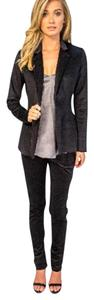 Amy Matto One Button Closure Notched Lapel Blazer