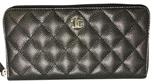 Chanel BN Chanel Classic Zip Around Long Wallet Silver HDW