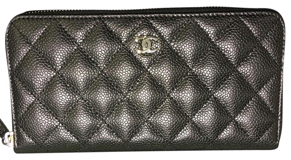 a2403c6f06ce Chanel BN Chanel Classic Zip Around Long Wallet Silver HDW Image 0 ...