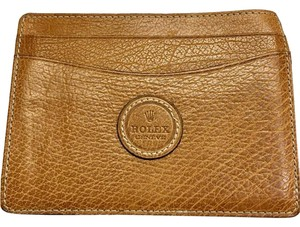 Rolex RARE Rolex Tan Leather Card Wallet