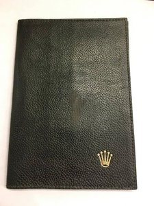 Rolex VINTAGE Black Rolex Passport Wallet