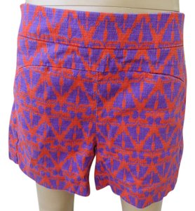 Cartonnier Anthropologie Red Tapestry Print Size 0 Mini/Short Shorts Red/purple