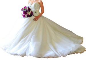 Eddy K Eddy K Ball Gown Sweetheart Strapless Crystal Covered Bodice Wedding Dress