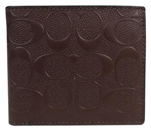 Coach NWT signature compact id wallet