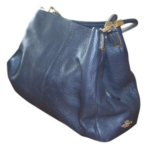 Coach Leather Cc Satin Enterior Shoulder Bag
