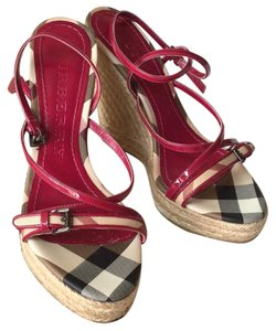 Burberry Magenta Wedges
