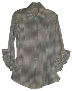 Bell Fine Garments Button Down Shirt Grey Gingham