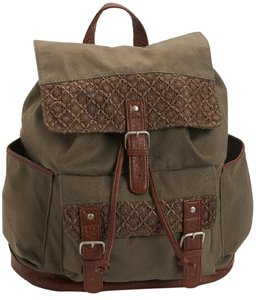 Aéropostale Crochet Faux Leather Buckle Sturdy Backpack