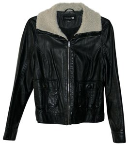 Forever 21 Edgy Biker Leather Leather Jacket