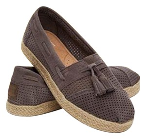 TOMS (New in box) Ash Suede (taupe) Flats