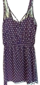 Eyeshadow short dress Black polka dot on Tradesy