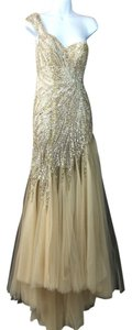 Terani Couture Couture One Embellished Tulle Skirt Evening Evening Gown Dress