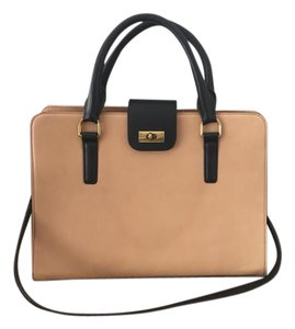 J.Crew Leather Structured Two-tone Shoulder Bag