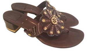 Tory Burch Leather Size 11 Brown Sandals