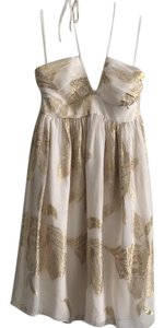 Arden B. short dress Cream and gold on Tradesy