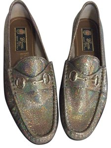 Gucci metallic gold Flats