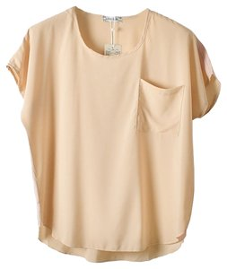 Nude Chiffon Sheer Top Nude, Blush