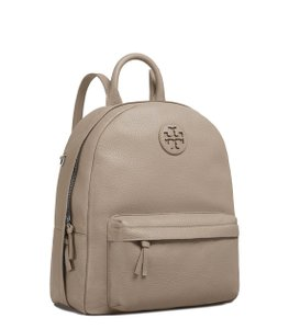 Tory Burch Leather White Tb Gray Backpack