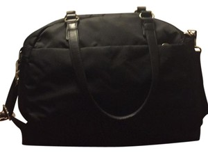 Lo & Sons Tote in Black with Silver Hardware