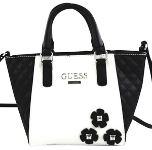 Guess Satchel in White/Black