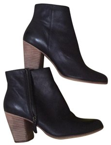 Nordstrom BP black leather booties side zip never worn size 9m Black Boots