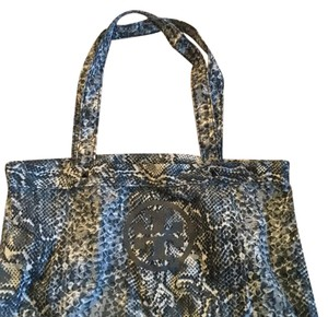 Tory Burch Snakeskin Tote in Grey