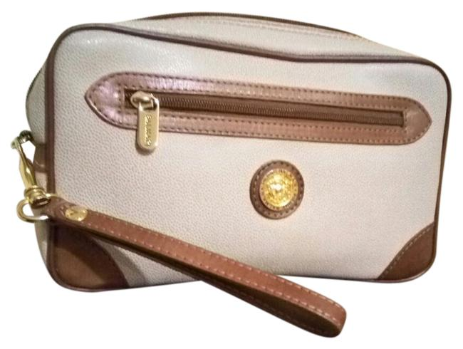 Item - Pierre Brown Canvas/Leather Clutch