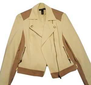 INC International Concepts Cream and Tan Jacket