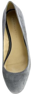 Halston H By Loafers Suede Gray Flats