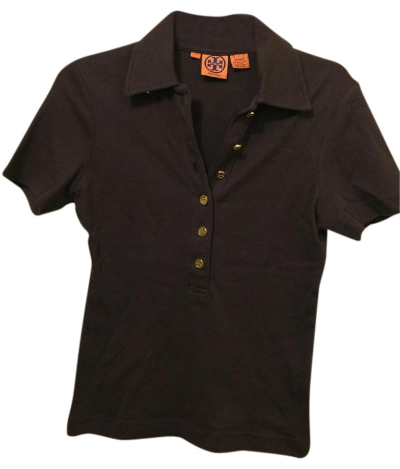 130f44c7f180 Tory Burch Brown Short Sleeve Polo Button-down Top Size 4 (S) - Tradesy