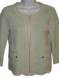 CAbi Knit Cotton Easter Spring Pale Green Jacket