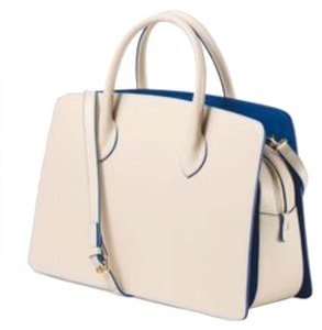 Alberta Di Canio Satchel in beige and blue