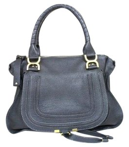 Chlo Handbag Tote Marcie Paraty Satchel in Black