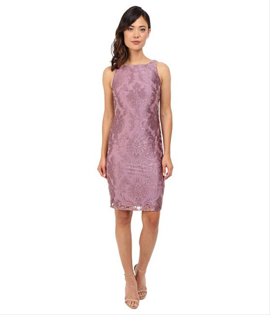Adrianna papell mauve jacket sheath mid length formal for Adrianna papell wedding guest dresses