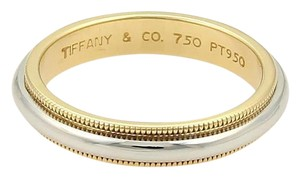Tiffany & Co. Tiffany & Co. Platinum 18k YGold Double Milgrain 3.5mm Wedding Band