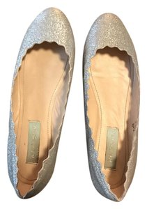 Betsey Johnson Silver sparkle Flats
