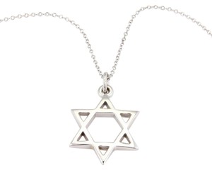 Tiffany & Co. Tiffany & Co. Star of David Pendant Necklace in 18k White Gold Italy