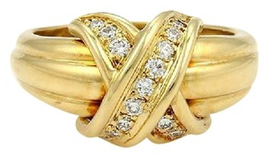 Tiffany & Co. Tiffany & Co.18k Yellow Gold & Diamonds Signature