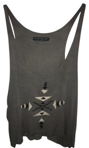 Brandy Melville Embroidered Top Grey