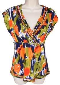 Calvin Klein Accented Bright Washable Top multicolor